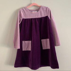 Hannah Anderson purple velvet dress size 100/4T